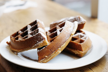 Homestyle Belgian waffles