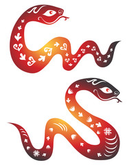 Snake zodiac symbol. Chinese New  Year 2013.