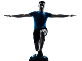 man exercising workout fitness posture