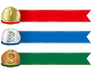 ranking label medal set