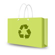 Green recycle shopping bag