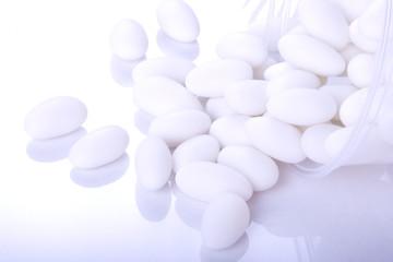 White sugar coated almond eggs