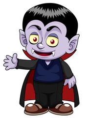 illustration of Cartoon dracula