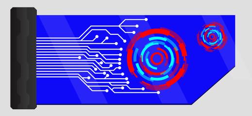 memory card of circuit and geo discs