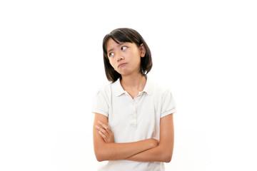 困惑した表情の女の子