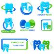 vector illustration of collection of different Dental Icon