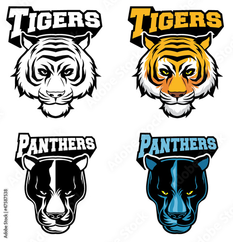 big cat head vector mascot