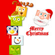 vector illustration of happy Christmas character
