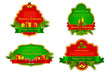 vector illustration of Christmas template with different object