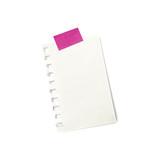 Petit morceau de papier sur fond blanc tenu par de l'adhésif col