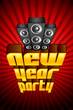 vector illustration of New Year Party poster