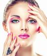 Fototapete Nageln - Makeup - Frau