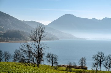 Bavarian alps, lake tegernsee