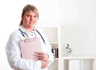 portrait of a young woman doctor