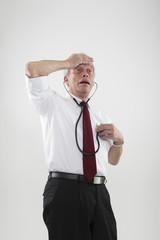 Senior hypochondriac worried by his health