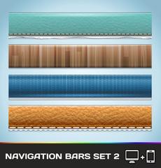 Vector Navigation Bars For Web And Mobile Set2