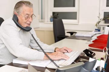 Grandpa in the Office