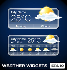 Vector Weather Widgets