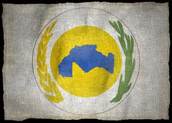 MAGHREB UNION NATIONAL EMBLEM FLAG