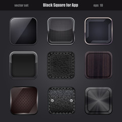 black square for app