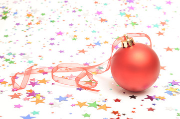 Christmas Bauble and star shaped confetti