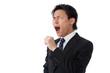 businessman yawning