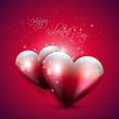 Valentine pink greeting card