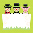 Ladybeetle, Chimney Sweep & Pig Label Dots Retro