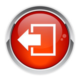 output disconnect button Internet icon red poster