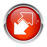 Internet connection disconnect button arrow icon red poster