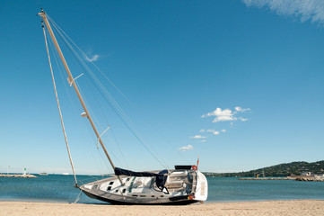 Sailing Yacht on Beach 4