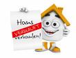 Kleines 3D Haus Orange - Haus zu verkaufen! - Verkauft
