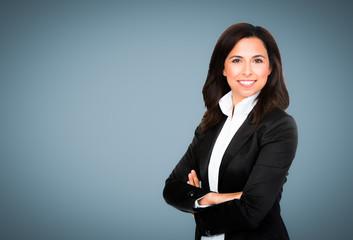 businessfrau mit einer glücklichen ausstrahlung