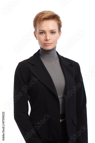 Portrait of short hair businesswoman