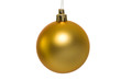 Christmas golden bauble