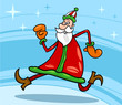 santa claus christmas cartoon illustration