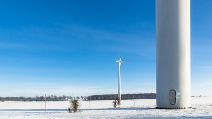 Windpark im Winter
