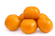 Fresh ripe mandarines isolated on white background