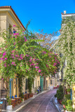 Traditional houses in Plaka area under Acropolis ,Athens,Greece - 47597926