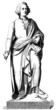 Statue Man : Musician - 18th century