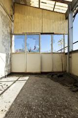abandoned building, veranda