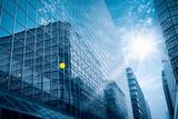 Fototapety modern glass building under the blue sky