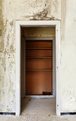 interior of a old house, door