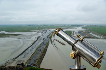 View from Mont Saint-Michel, Normandy, France