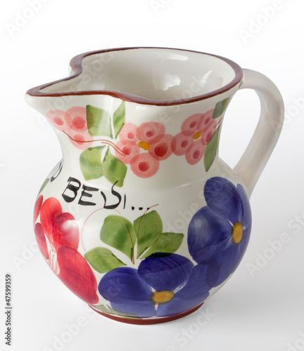 Decorated Ceramic Wine Jug