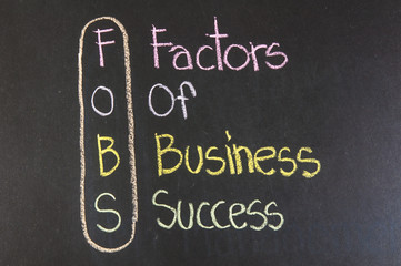 FOBS acronym Factors Of Business Success