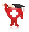red heart and white background - graduate