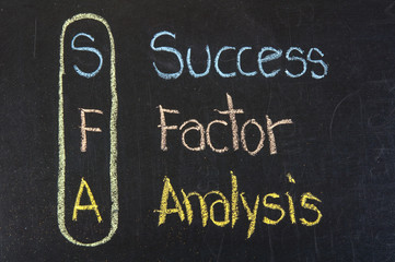 SFA acronym Success Factor Analysis