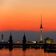 Fototapeten,berlin,deutsch,sonnenuntergang,abenddämmerung