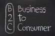 B2C acronym Business to Consumer